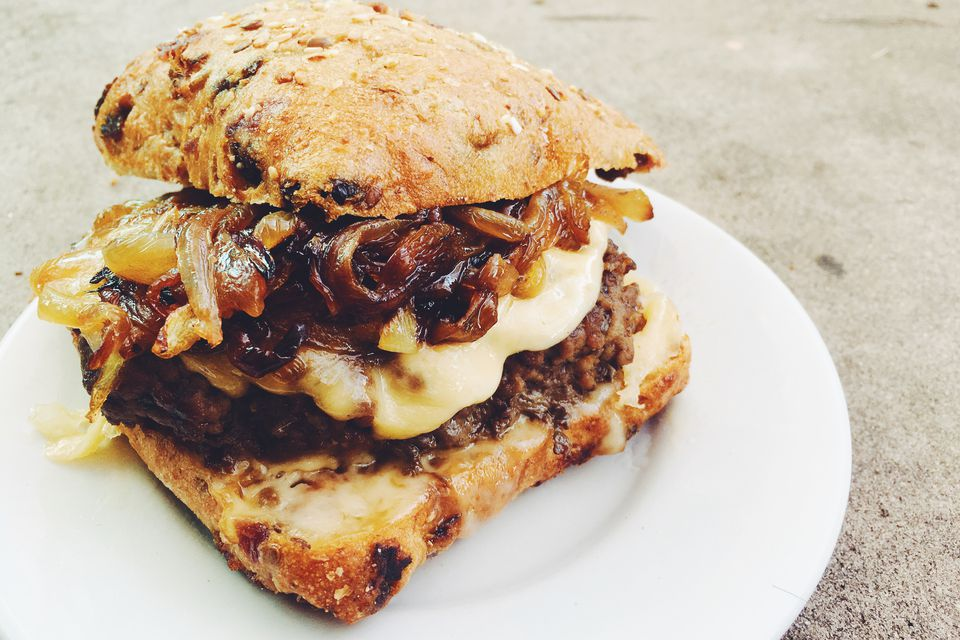 French Onion Soup Cheeseburger
