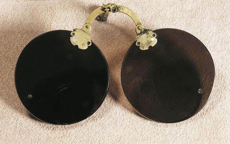 Element atomic number 4 or beryllium was used to make the lenses of these 18th century Chinese glasses.