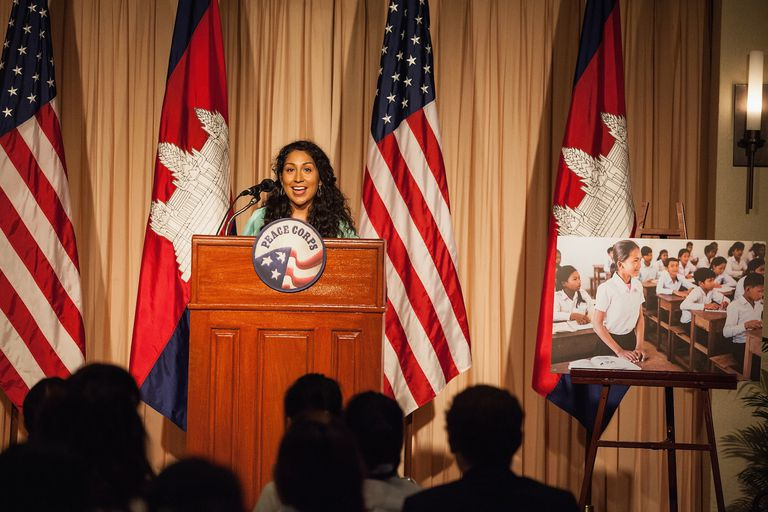 Michelle Obama Visits Peace Corps Volunteers In Siem Reap