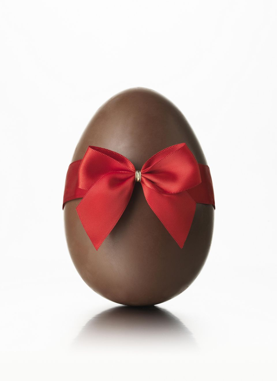 A solid, chocolate egg