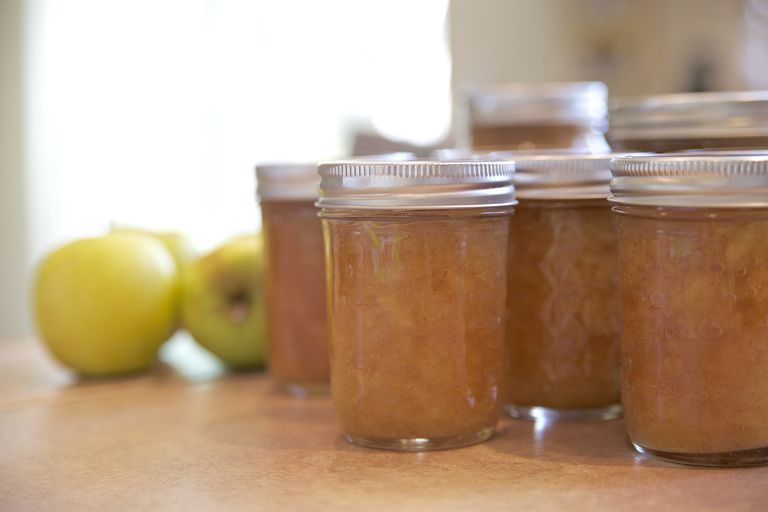 Applesauce in nason jars