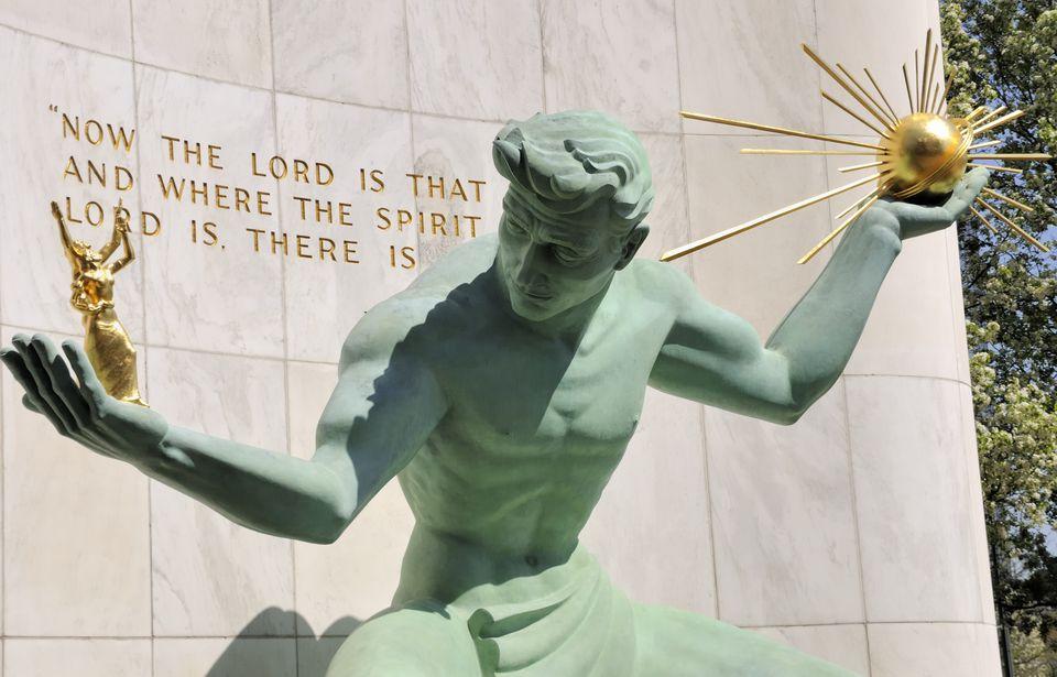The Spirit of Detroit.