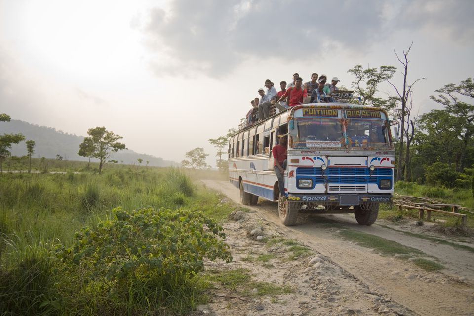 A local bus in Nepal