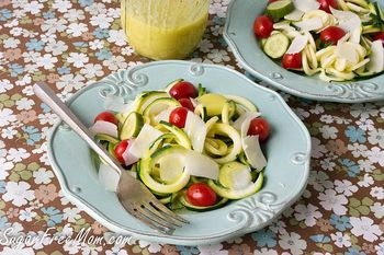 An Easy Make Ahead Spiralized Zucchini Noodle Salad