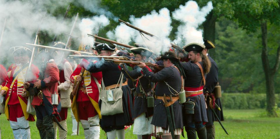 A re-enactment at Fort Meigs