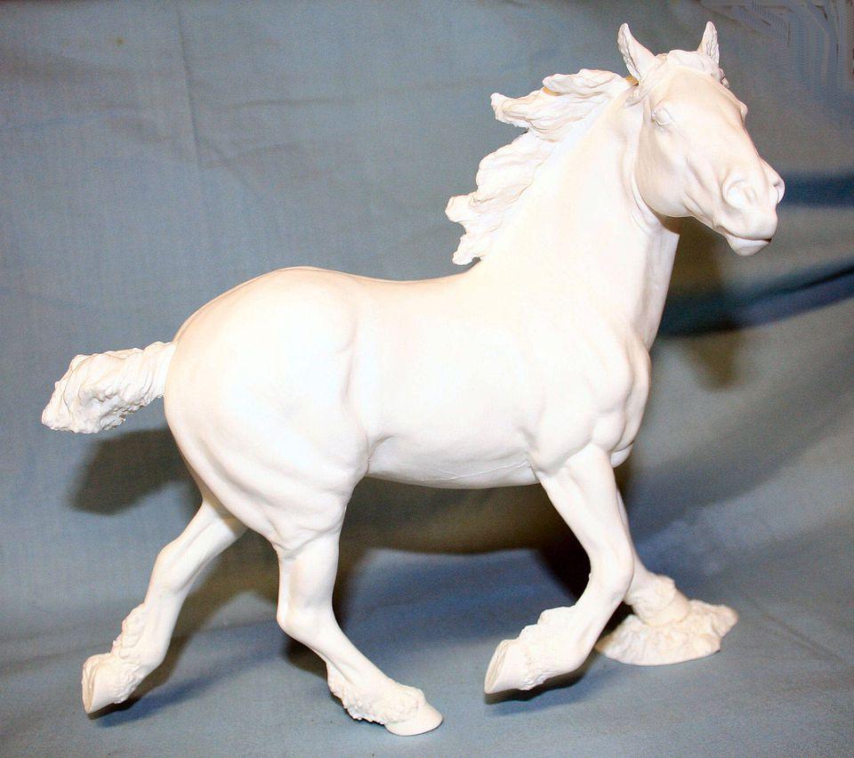 Artist resin model draft horse ready for painting