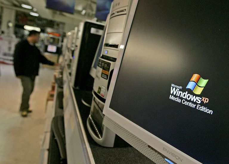 Windows XP on a computer screen