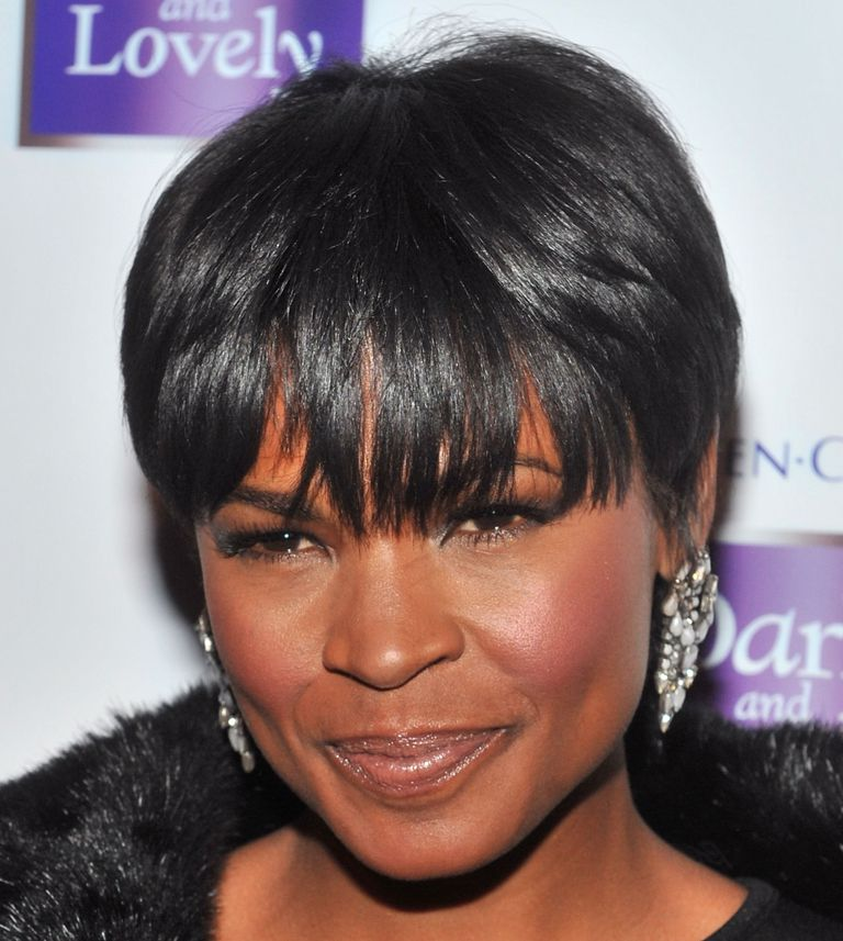 Nia Long with short hairstyle