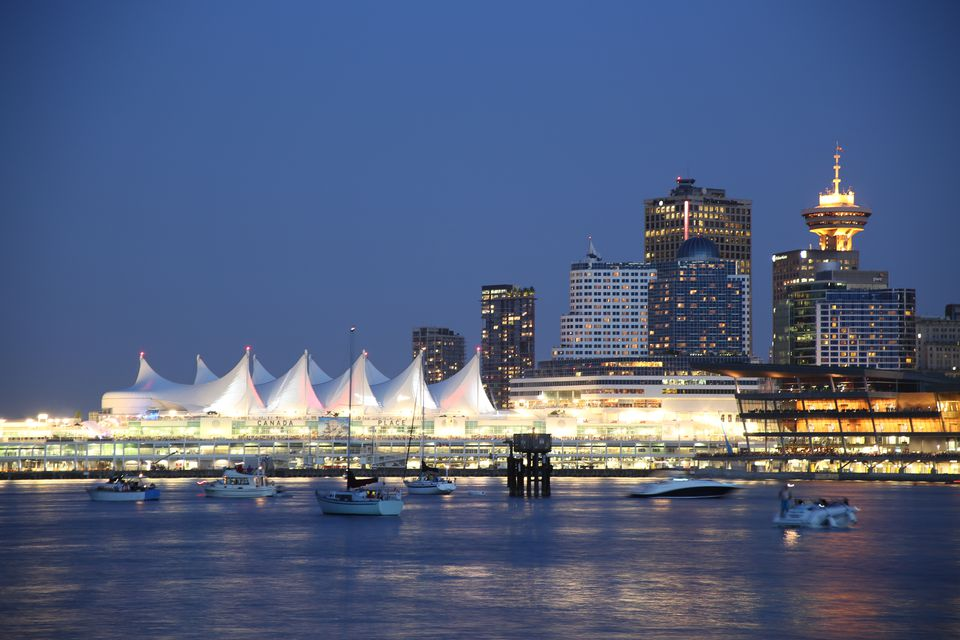 Vancouver's Canada Place on a clear summer evening