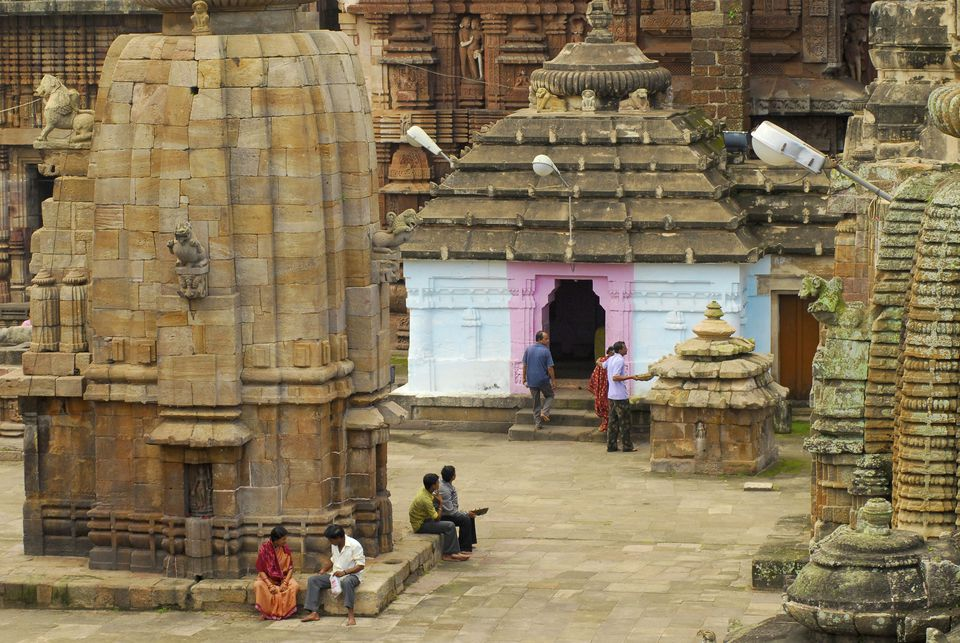 settings View at the court of Lingaraja Temple, Bhubaneshwar