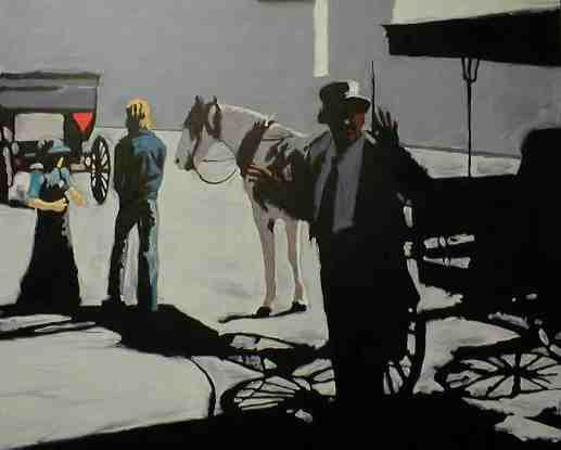 """Jim Meaders Painting """"Shadow Rides"""""""