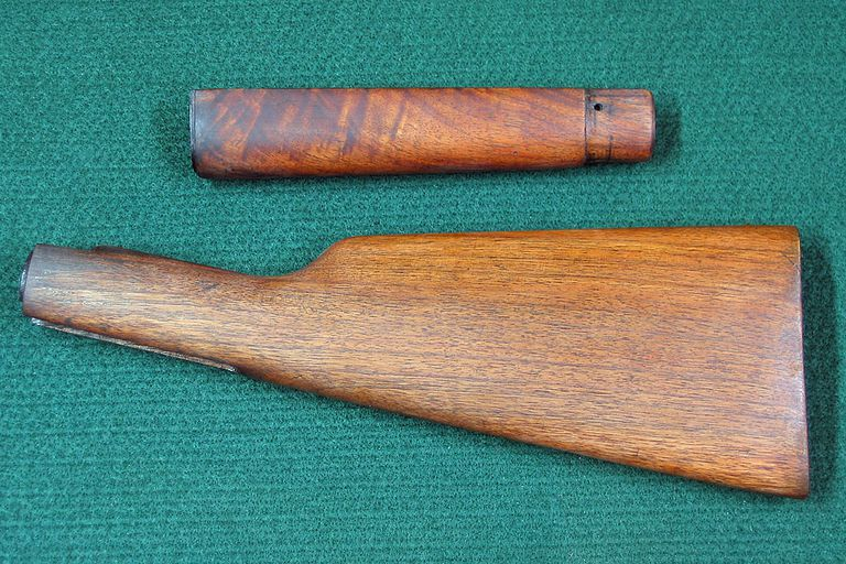 Photo of butt stock and forearm from a Winchester Model 94 rifle.