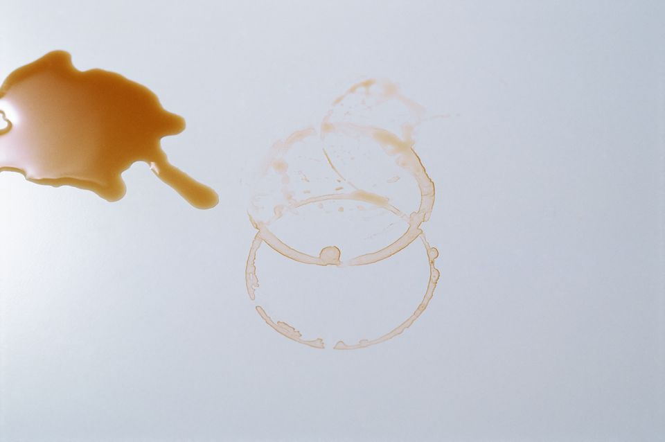 Coffee stains on a table