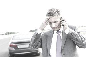unhappy man in business attire