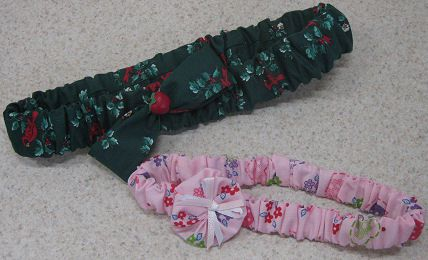 fabric headband with a scrunchie style