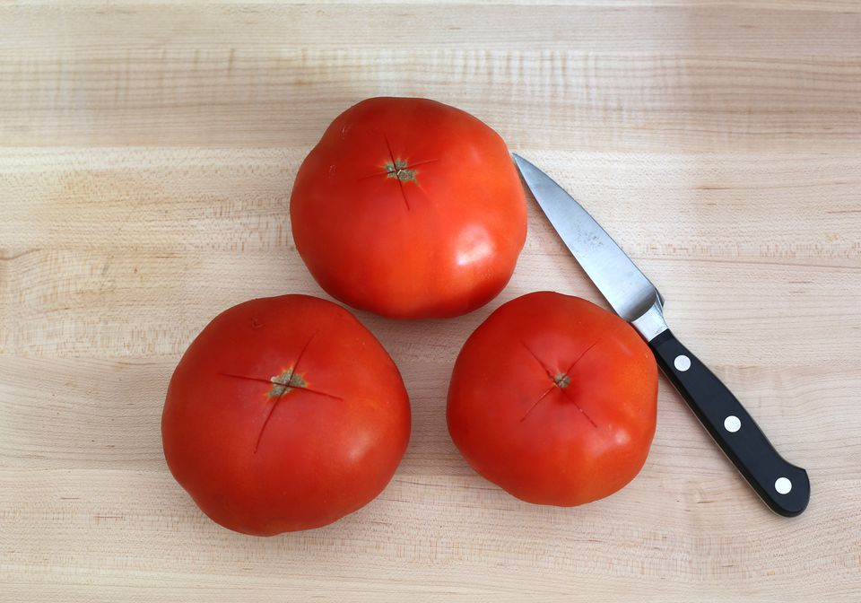 How to Peel Tomatoes - Cut X
