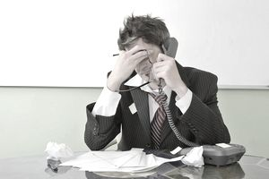 stressed sales manager