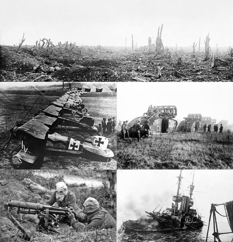 several photos from World War I