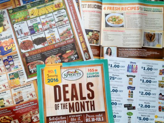 Sprouts Farmers Market flyers with deals on natural foods