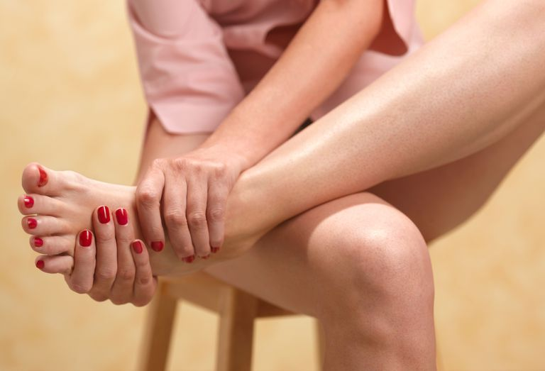 Woman with nerve pain in feet