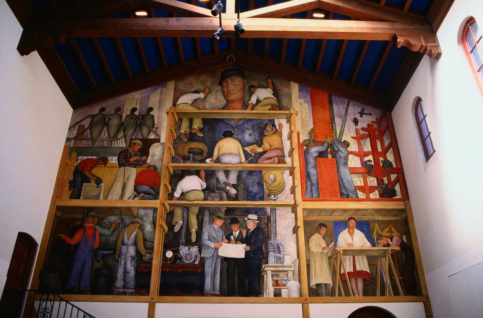 All about the diego rivera murals of san francisco for Diego rivera mural san francisco art institute
