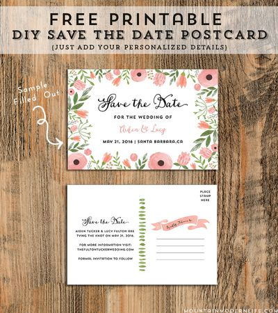 10 Beautiful And Free Save The Date Templates