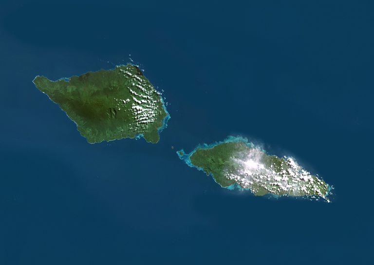 Samoa, True Colour Satellite Image