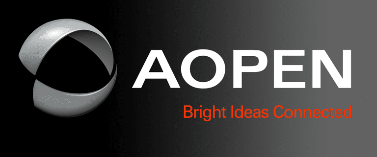 Screenshot of the AOPEN website logo