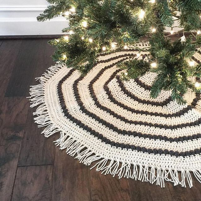 Awesome Picture Of Free Crochet Christmas Tree Skirt Patterns