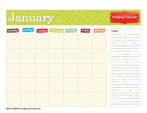Printable Foraging Calendar