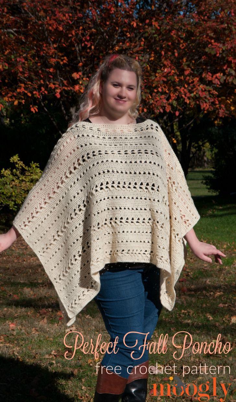 Perfect Fall Poncho Free Crochet Pattern