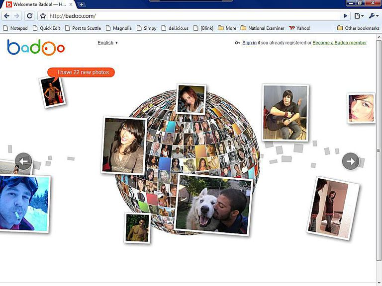 Lista Social Network - Badoo