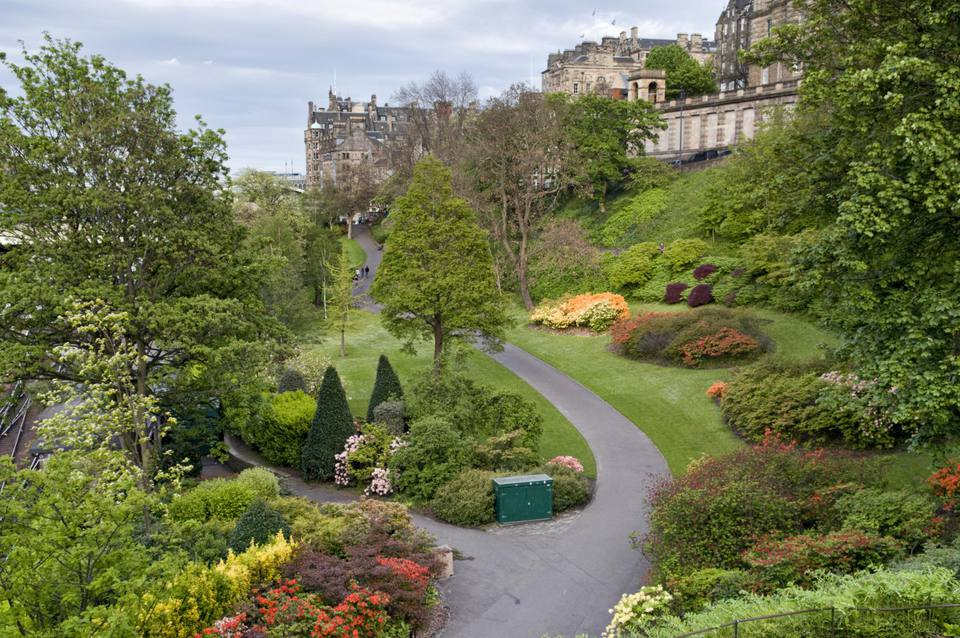 Trees and shrubs of Princes Street Gardens, Edinburgh