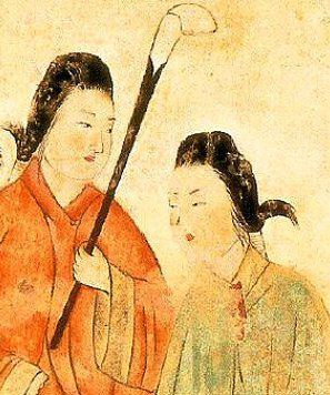 Chinese-inspired hairstyles in Japan, c. 600