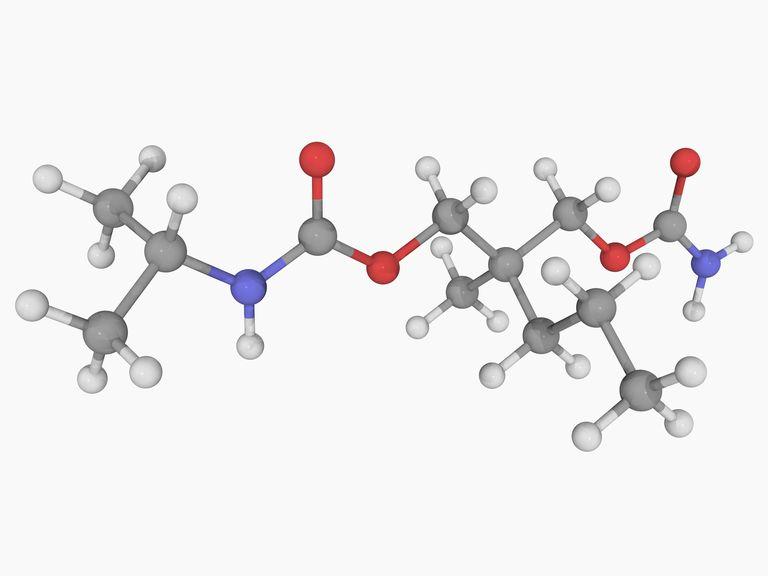 Carisoprodol molecule model.