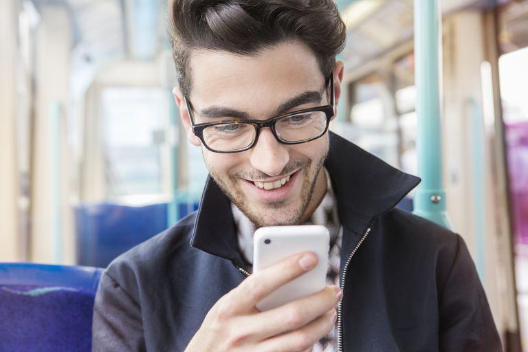 Happy Conversation on Smartphone
