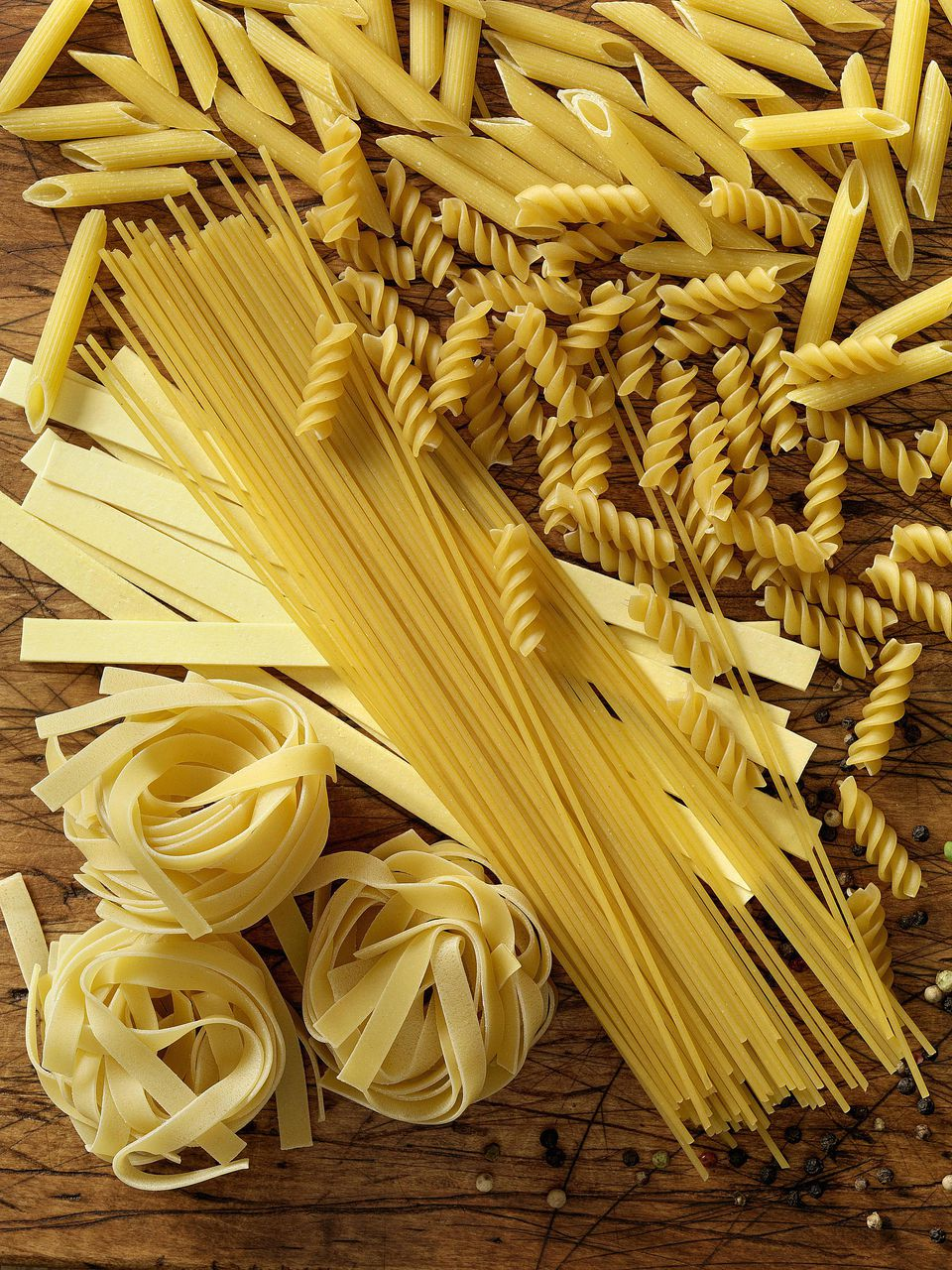 A wide assortment of different pastas