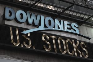 Dow Jones logo in Times Square
