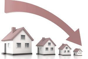 Homes decreasing in value (Clipping path)