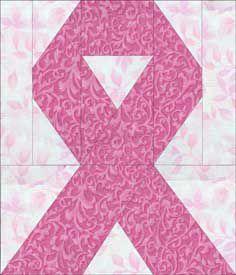 Cancer Ribbon Quilt Block Pattern