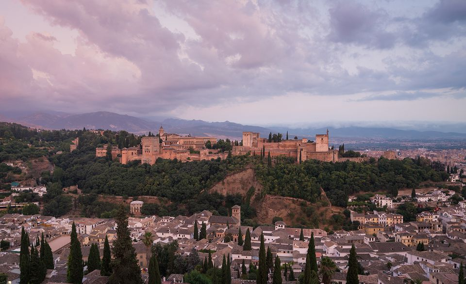 settings The Alhambra From Granada, Spain