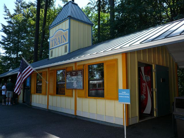 Zoo Train Station for the Washington Park and Zoo Railway in Portland's Washington Park