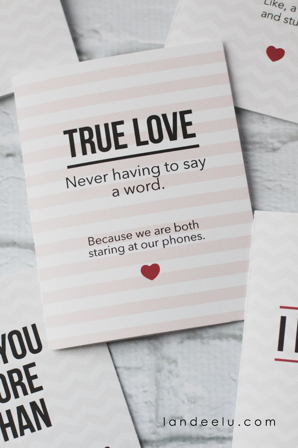 True Love Never Having To Say A Word Card