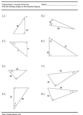 trigonometry inverse function worksheet. Black Bedroom Furniture Sets. Home Design Ideas