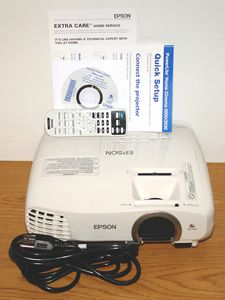 Epson PowerLite Home Cinema 2030 video projector - Front View with Included Accessories