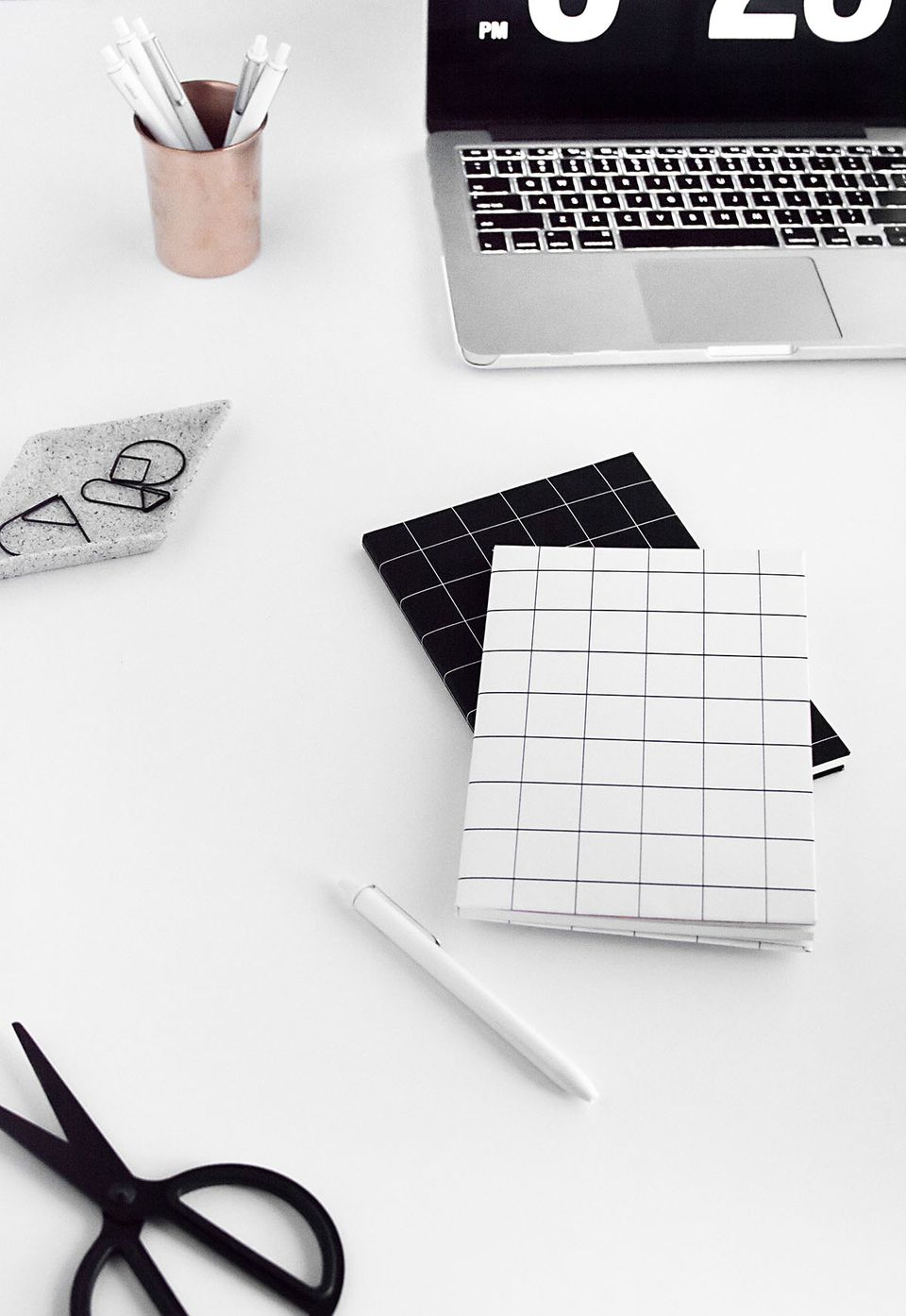 DIY Grid Notebook Covers