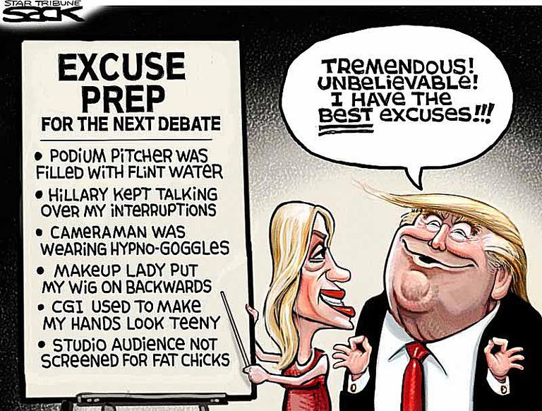 Funny 2016 Election Cartoons