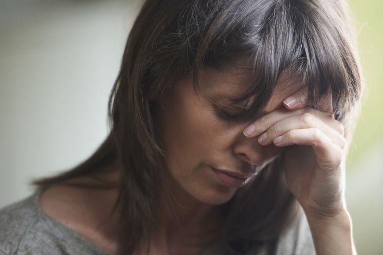 A woman with depression symptoms.