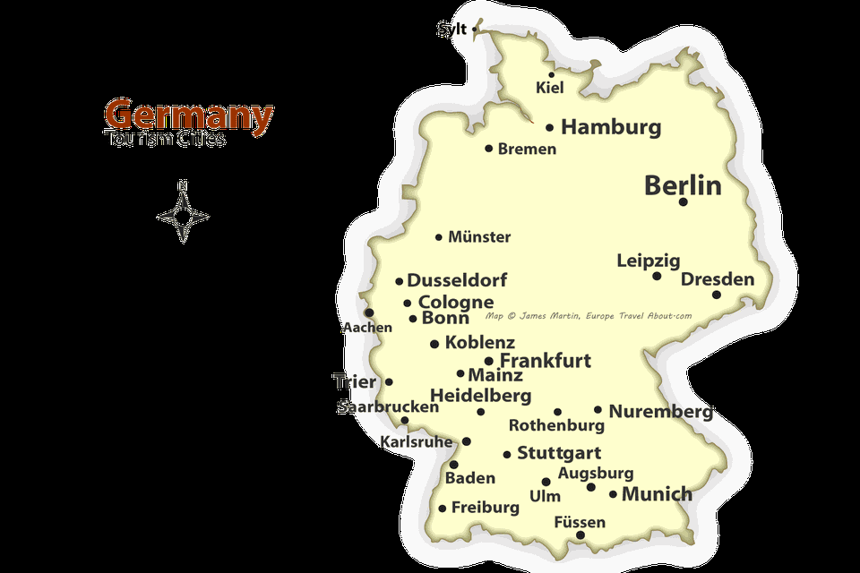 German cities map best places to visit in germany germany cities map gumiabroncs Image collections