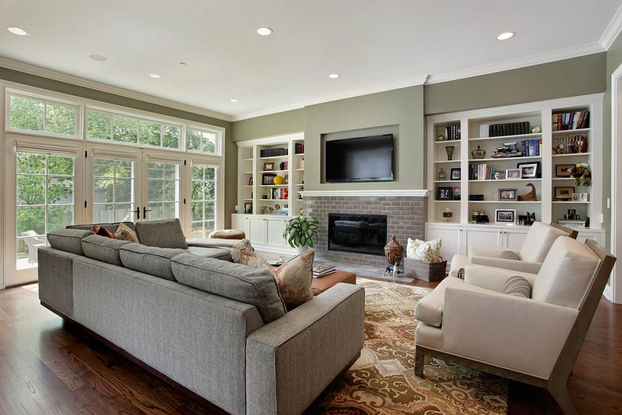 Green living room ideas for Neutral green living room